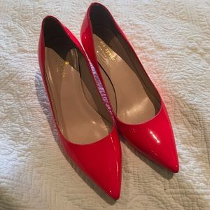 Kate Spade Pink Patent Leather Melanie Pumps